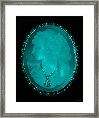 Cameo In Turquois Framed Print by Rob Hans