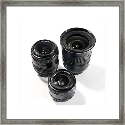 Camera Lenses Framed Print