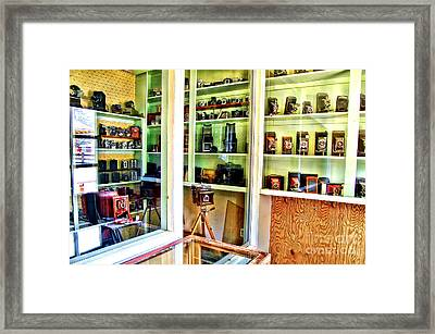 Cameras In The Past Framed Print by Jason Abando