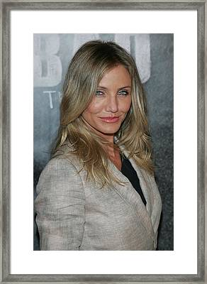 Cameron Diaz At A Public Appearance Framed Print by Everett