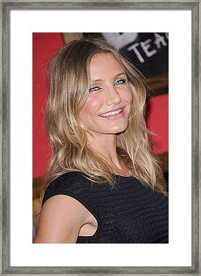 Cameron Diaz At Arrivals For Bad Framed Print by Everett