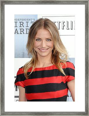 Cameron Diaz At Arrivals For Film Framed Print by Everett