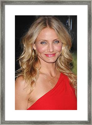 Cameron Diaz At Arrivals For The Green Framed Print by Everett