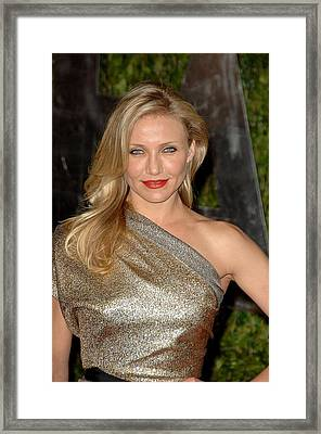 Cameron Diaz At Arrivals For Vanity Framed Print by Everett
