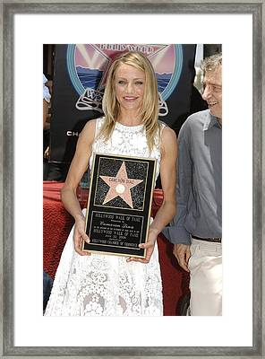 Cameron Diaz At The Induction Ceremony Framed Print by Everett