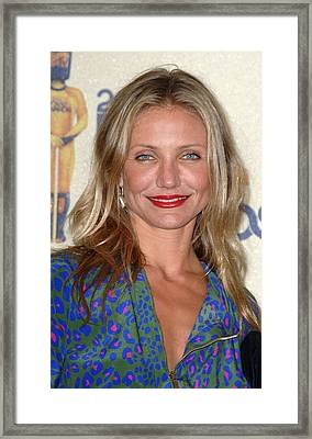 Cameron Diaz In The Press Room For 2009 Framed Print
