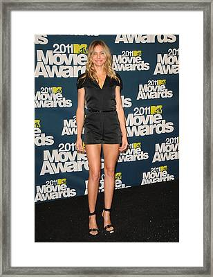 Cameron Diaz Wearing A 3.1 Phillip Lim Framed Print by Everett