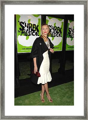 Cameron Diaz Wearing A Bill Blass Dress Framed Print by Everett