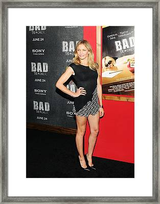 Cameron Diaz Wearing A Chanel Dress Framed Print by Everett