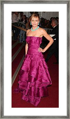 Cameron Diaz Wearing A Dior Gown Framed Print by Everett