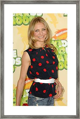 Cameron Diaz  Wearing A Michael Kors Framed Print by Everett