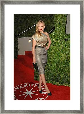 Cameron Diaz Wearing A Victoria Beckham Framed Print by Everett