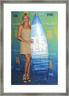 Cameron Diaz Wearing An A.l.c. Dress Framed Print by Everett