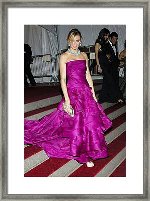 Cameron Diaz Wearing Christian Dior Framed Print
