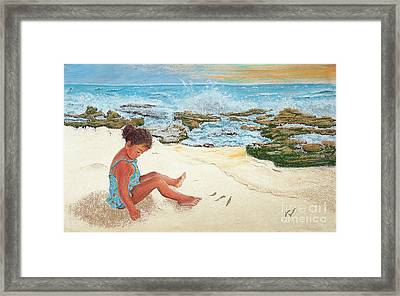 Camila And The Carribean Sea Framed Print by Jim Barber Hove