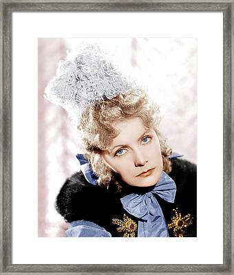 Camille, Greta Garbo, Portrait Framed Print by Everett