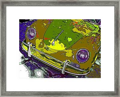 Camouflaged Porsche 356 Framed Print by Samuel Sheats