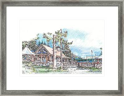 Camp Framed Print by Andrew Drozdowicz