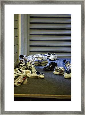 Framed Print featuring the photograph Camp by Carole Hinding