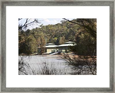 Framed Print featuring the photograph Camp On The Lake. by Carole Hinding