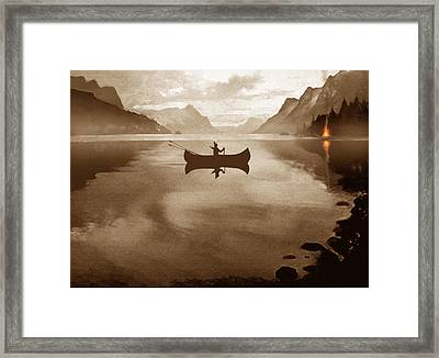 Camp Waters Framed Print