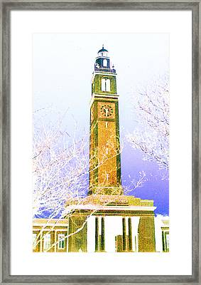 Framed Print featuring the photograph Campanile At Louisiana State University by Louis Nugent