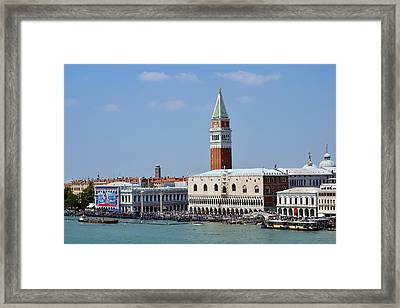 Campanile San Marco Framed Print by Terence Davis