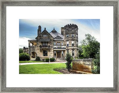 Campbell Castle Street View Framed Print by Fred Lassmann