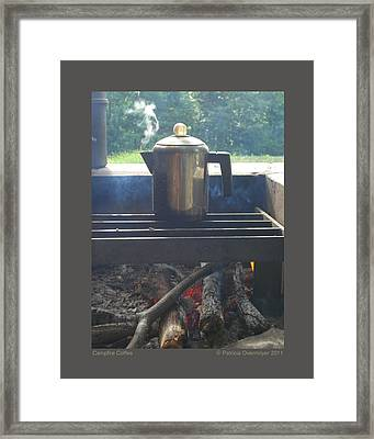 Framed Print featuring the photograph Campfire Coffee by Patricia Overmoyer