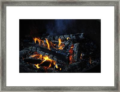 Framed Print featuring the photograph Campfire by Fran Riley