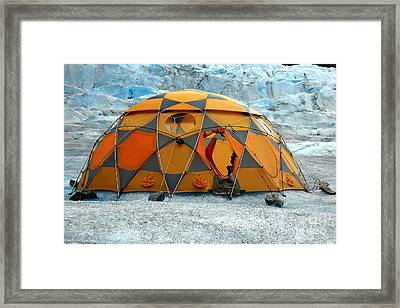 Camping On A Glacier Framed Print by Sophie Vigneault