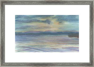 Framed Print featuring the pastel Campout On Golden Beach by Denny Morreale