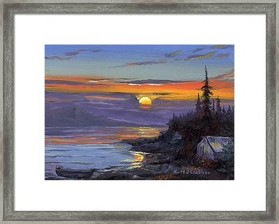 Campsite Sunset Framed Print by Kurt Jacobson