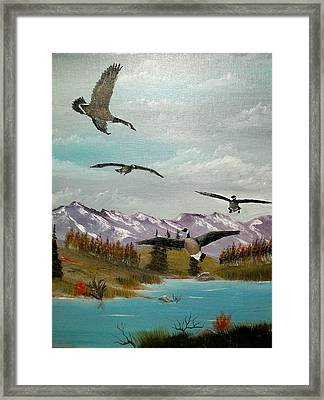 Framed Print featuring the painting Canada Air Show by Al  Johannessen