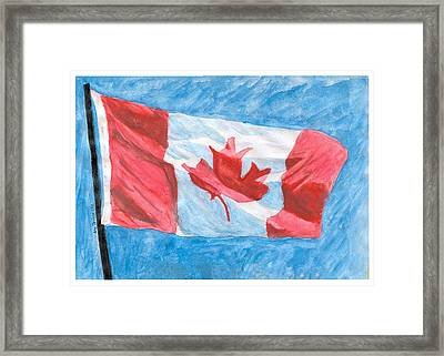 Framed Print featuring the painting Canada Day by Ana Tirolese