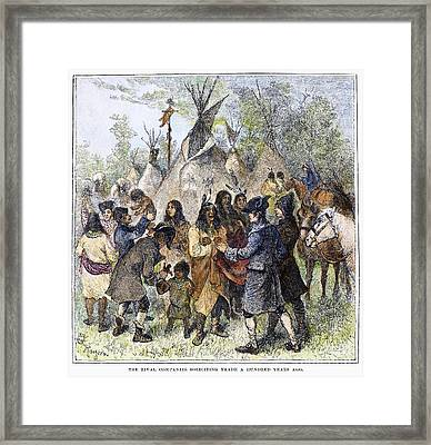 Canada: Fur Trade, C1780 Framed Print by Granger