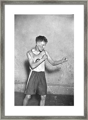 Canadian Boxer Framed Print by Topical Press Agency
