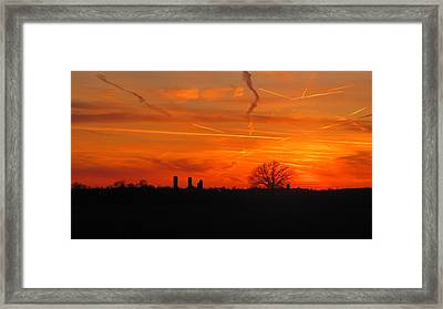 Canadian Countryside Sunset 1588 Framed Print