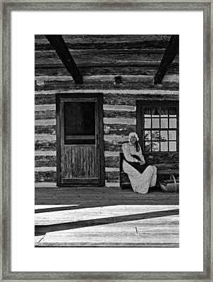Canadian Gothic Monochrome Framed Print by Steve Harrington