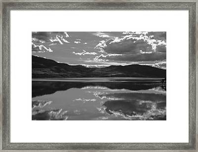Canadian Lake 1455 Framed Print by Larry Roberson