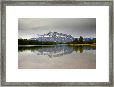 Canadian Lake 1733 Framed Print by Larry Roberson