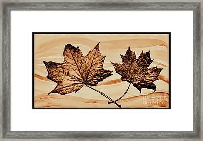 Canadian Leaf Framed Print by Marsha Heiken
