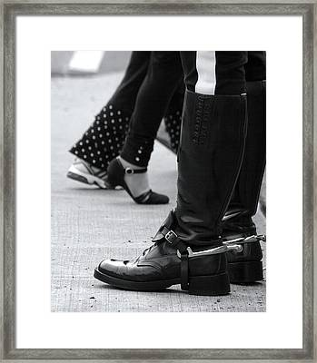 Canadian Mountie Boots Framed Print