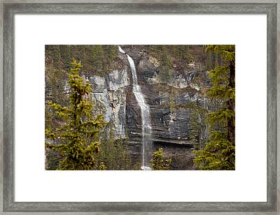 Canadian Water Fall 1908 Framed Print by Larry Roberson