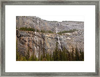 Canadian Water Fall 1924 Framed Print by Larry Roberson