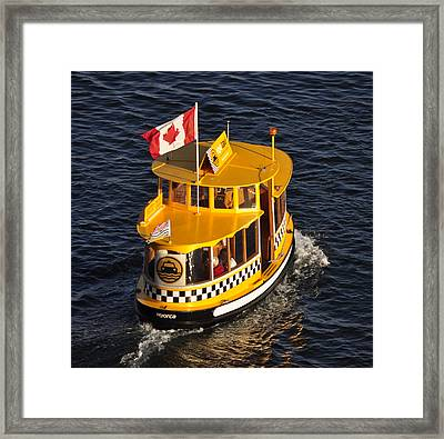 Canadian Water Taxi Framed Print by MaryJane Armstrong