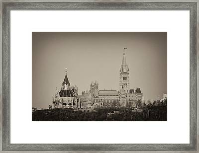 Framed Print featuring the photograph Canadiana by Josef Pittner