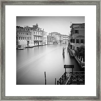 Canal Grande Study Iv Framed Print by Nina Papiorek