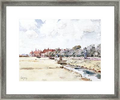 Canal Scene Framed Print by Childe Hassam