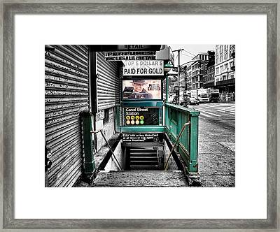 Canal Street Station Framed Print by Bennie Reynolds